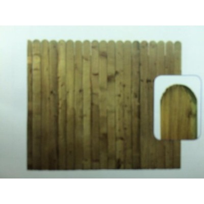 Premier Round Top Closed Board 95mm Pressure Treated Panels